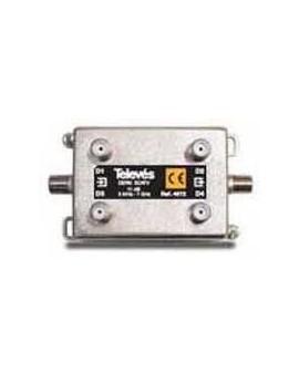 Derivador con conector F, 4d 20db