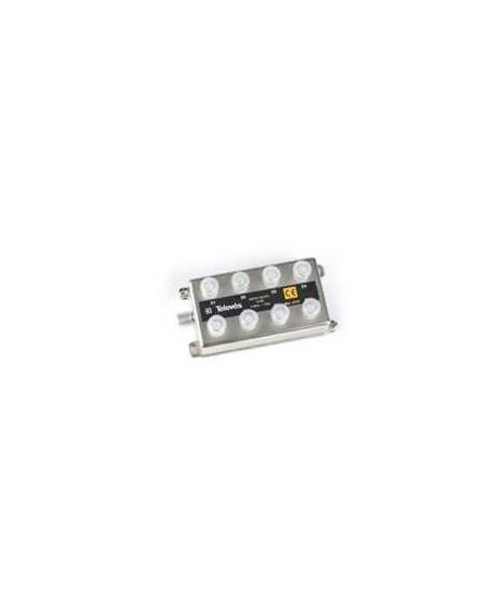 Derivador conector F, 8 salidas, 12 dB Interior