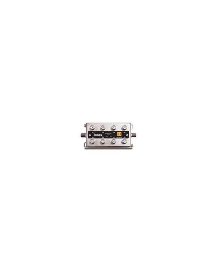 Derivador conector F, 8 salidas, 14 dB Interior