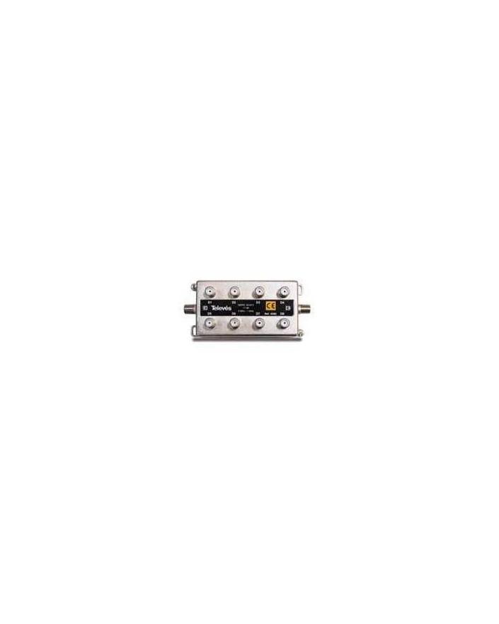 Derivador conector F, 8 salidas, 17 dB Interior