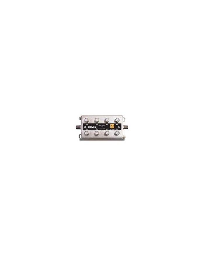 Derivador conector F, 8 salidas, 20 dB Interior