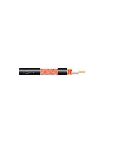 Cable coaxial cobre-cobre T100 negro PE