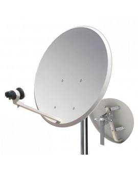 Antena parabolica con LNB y soporte a pared 60 cm Hispasat y Astra de Tecatel