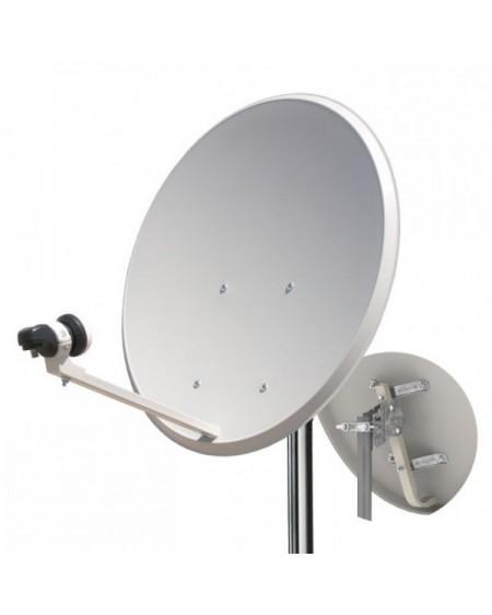 Antena parabolica 60 cm LNB y soporte pared Tecatel 20 unidades