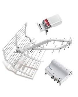 Kit Antena RHOMBUS+Amplificador+Fuente+cable FAGOR