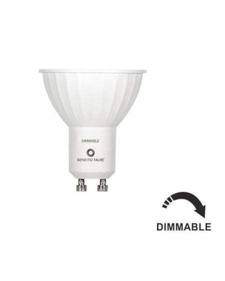Dicroica Led GU10 Regulable 120º 6W 3000K blanco calido
