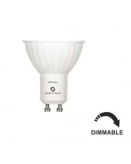 Dicroica Led GU10 Regulable 120º 6W 2700K blanco calido