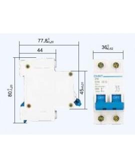 Magnetotérmico Chint 2 Polos 10A-16-20-25 A CURVA C