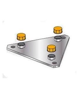 Placa base torreta rígida