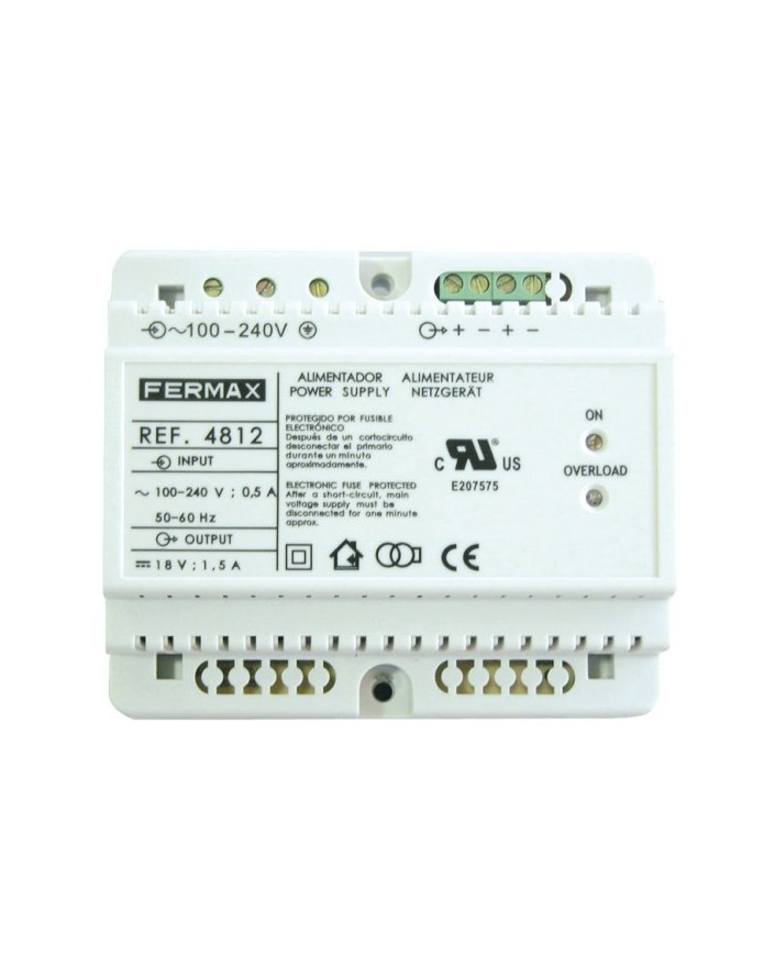 ALIMENTADOR DIN6 100-240VAC/18VDC-1,5A