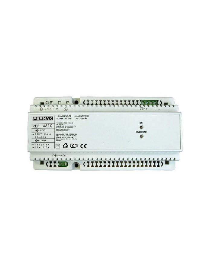 4810 ALIMENT. DIN10 230VAC/12VAC+18VDC-1.5A