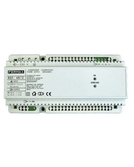 ALIMENT. DIN10 230VAC/12VAC+18VDC-1.5A