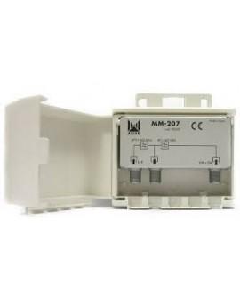 Mezclador mastil 2 entradas UHF-VHF/FM ALCAD