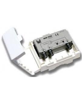Mezclador mastil 2 entradas TV/FM-TV/FM con P.C /ALCAD