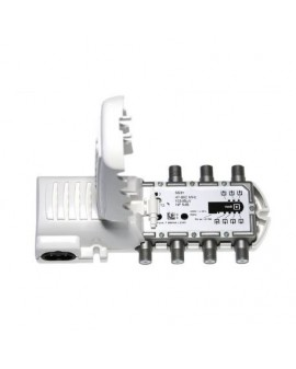 Amplificador de antena para interior 6 salida 47-862 MHz con conector  F  Televes 5531