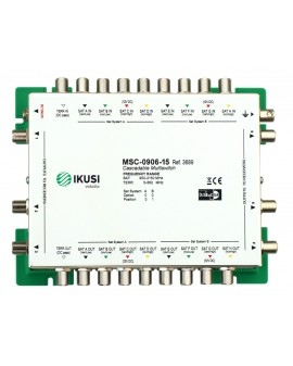 MSC -0906 Multiswitch FI cascadable 9 x 6 salidas. Atenuacion 15 dB ikusi 3689