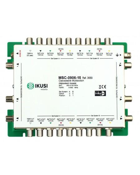 Multiswitch FI cascadable 9x6 MSC-0906-15