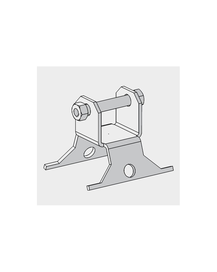 Base basculante para torre modelo 180 Zinc+RPR