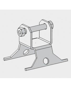 Base basculante para torre modelo 180 Galvanizado en caliente