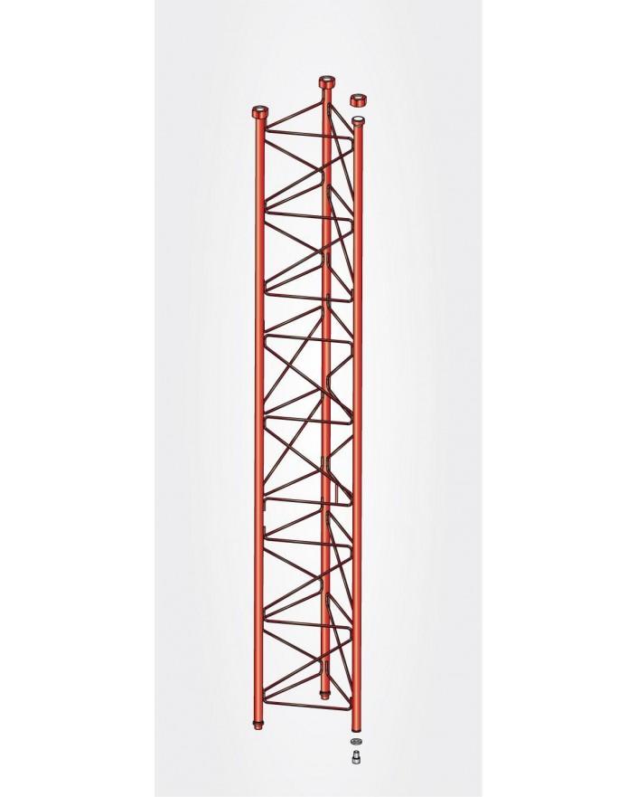 Tramo Intermedio Torre 550 Zinc+Rojo 3m