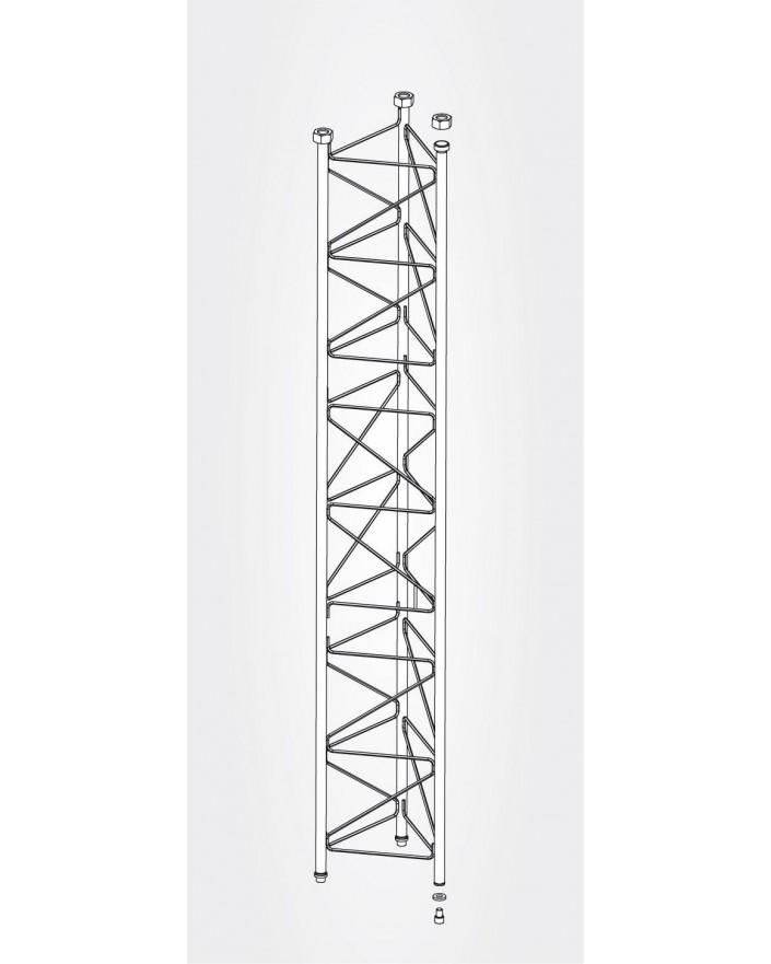 Tramo Intermedio Torre 550 Zinc+Blanco 3m