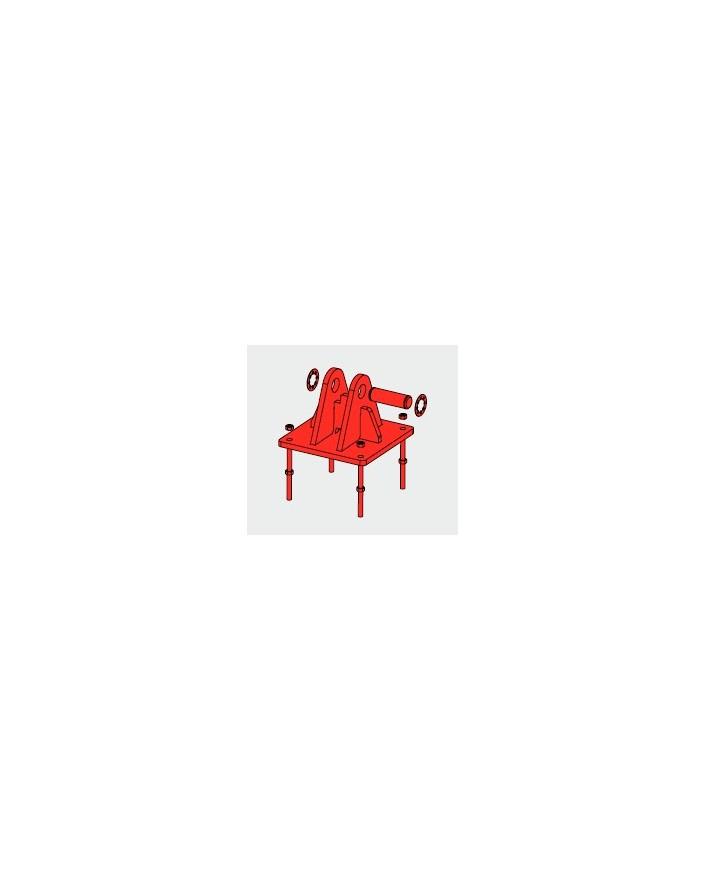 Base Basculante para Torre 550 Zinc+Rojo