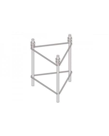 Herraje Empotrable Torre 180 Zinc+RPR para Base Fija (3038/01/02)