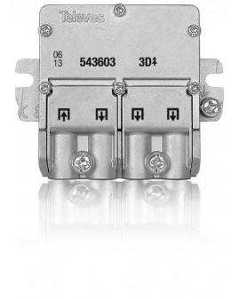 Distribuidor 4 salidas UDF-408. Paso de corriente