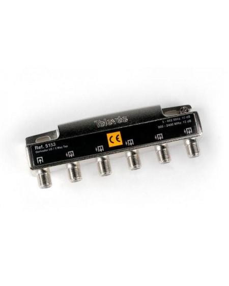 Repartidor de 5 salidas, conector F 2400MHz