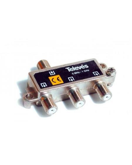 Repartidor Interior SCATV 3 salidas conector F 1000 MHz