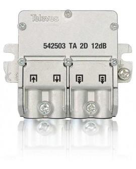 Mini Derivador conector easy F, 2 salidas, 12 dB Interior TA (planta 1)