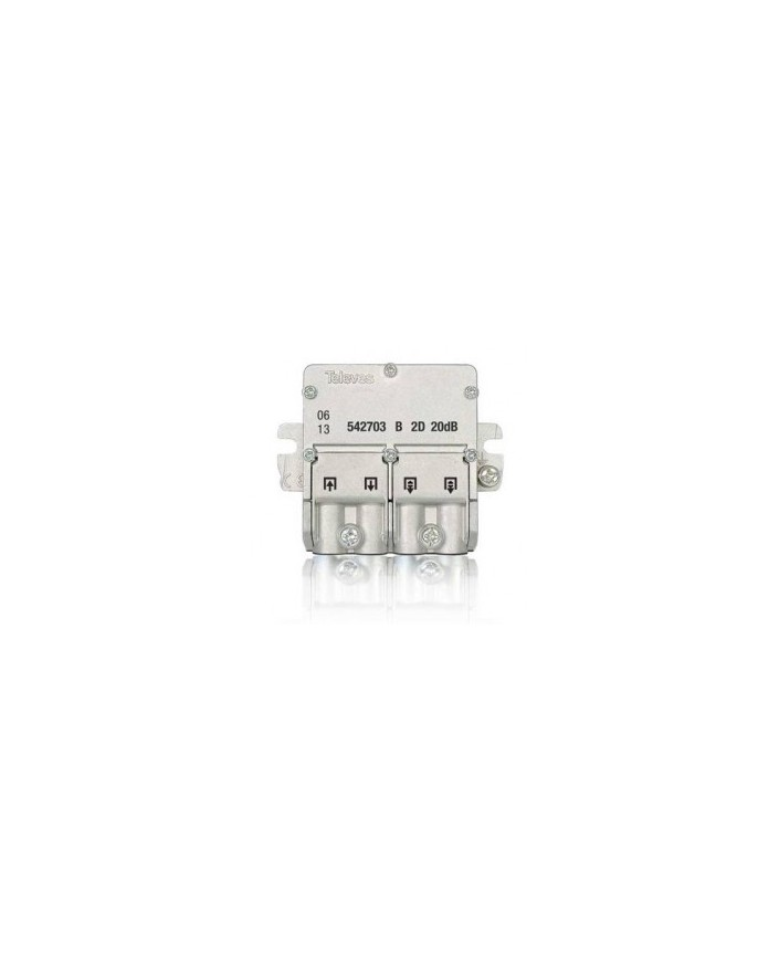 Mini Derivador conector easy F, 2 salidas, 21 dB  Interior B (planta 4...6)