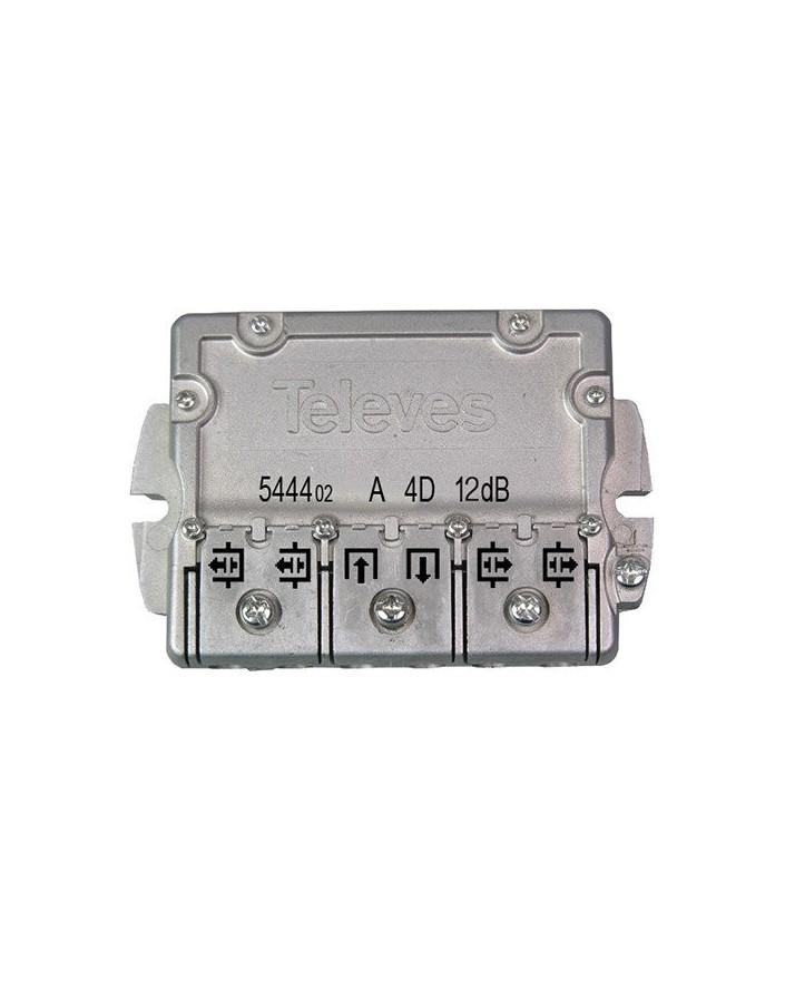 Derivador conector easy F, 4 salidas, 12 dB Interior TA (planta 1)
