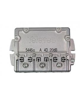 Derivador conector easy F, 4 salidas, 20 dB Interior B (planta 4 y 5)