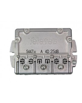 Derivador conector easy F, 4 salidas, 25 dB  Interior C (planta 6...8)
