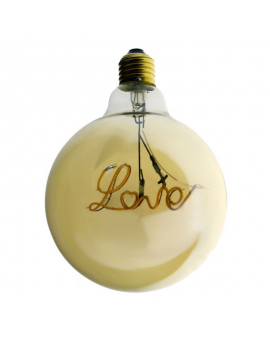 "Bombilla Dorada LED Globo ""Love"" Decorativa Vintage"
