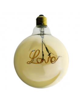 "Bombilla Dorada LED Globo ""Love"" Decorativa Vintage"
