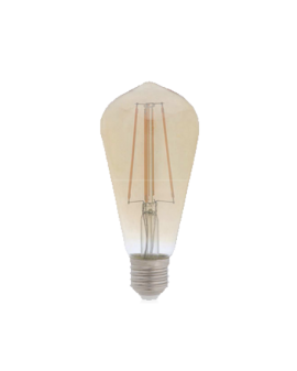 BOMBILLA DECORATIVA AMBAR E-27 DIMMABLE
