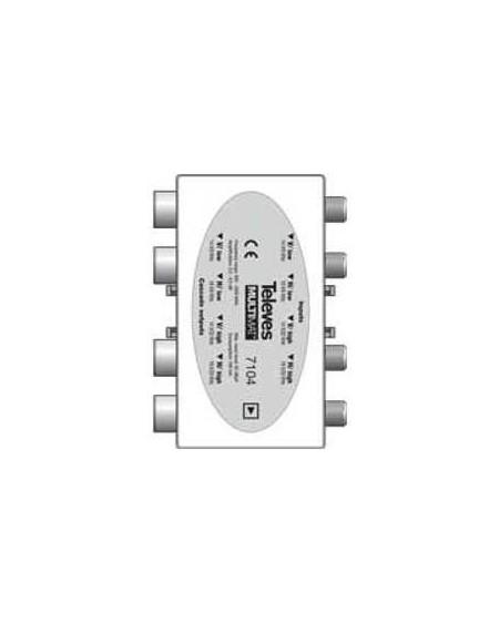 Amplificador Televes 4 FI (9 dB) Multimat.
