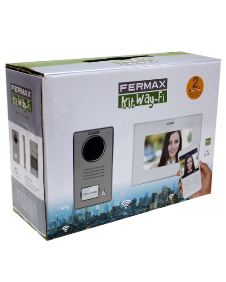 "KIT VIDEOPORTERO WAY-FI 7"" 1/L MONITOR CONECTIVIDAD WIFI FERMAX 1431"