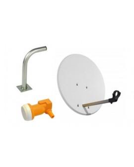 Kit Antena Parabólica 80 cm + LNB + Soporte Televes 5 unidades