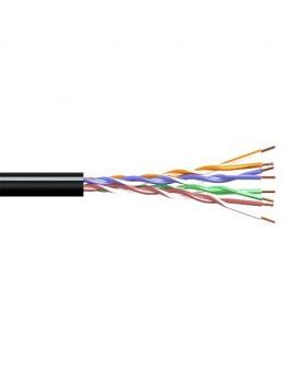 Cable UTP CAT5 Exterior Negro (Rollo 100m) CCA