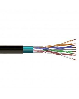 Cable FTP CAT5 Exterior Negro (Rollo 305 m) CCA