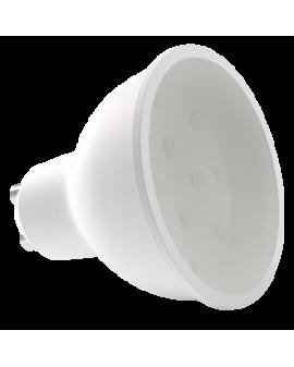 Bombilla dicroica LED SMD 6.5W casquillo GU10 luz cálida