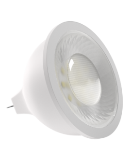 Bombilla dicroica LED SMD 8W casquillo MR16 luz cálida