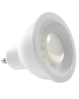 Bombilla dicroica LED SMD 8W casquillo GU10 luz cálida