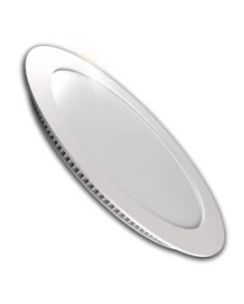 Downlight LED Circular Plano Blanco 18W Luz Blanca
