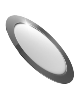 Downlight LED Circular Plano Cromo 18W Luz Neutra