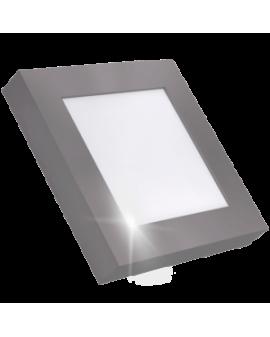 Downlight LED Cuadrado de Superficie Cromo 18W Luz Blanca