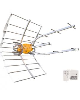 Antena televes Ellipse con fuente de alimentación